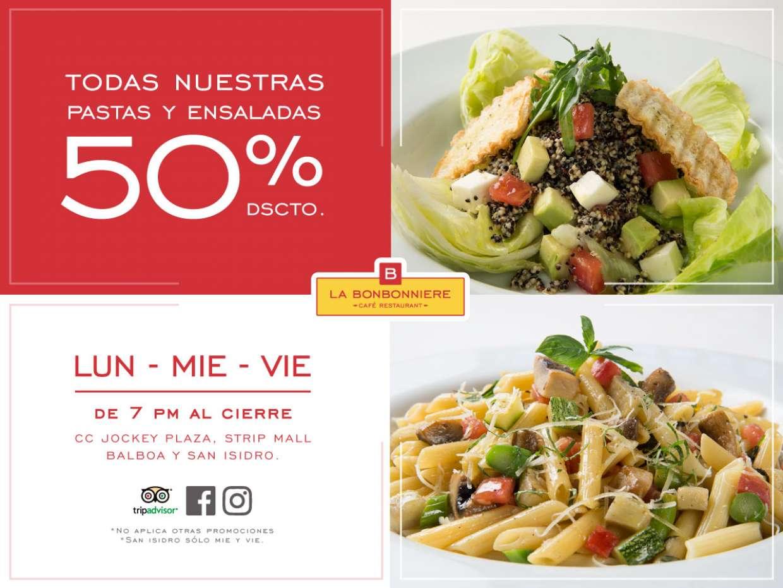 Promociones Ensaladas y Pastas