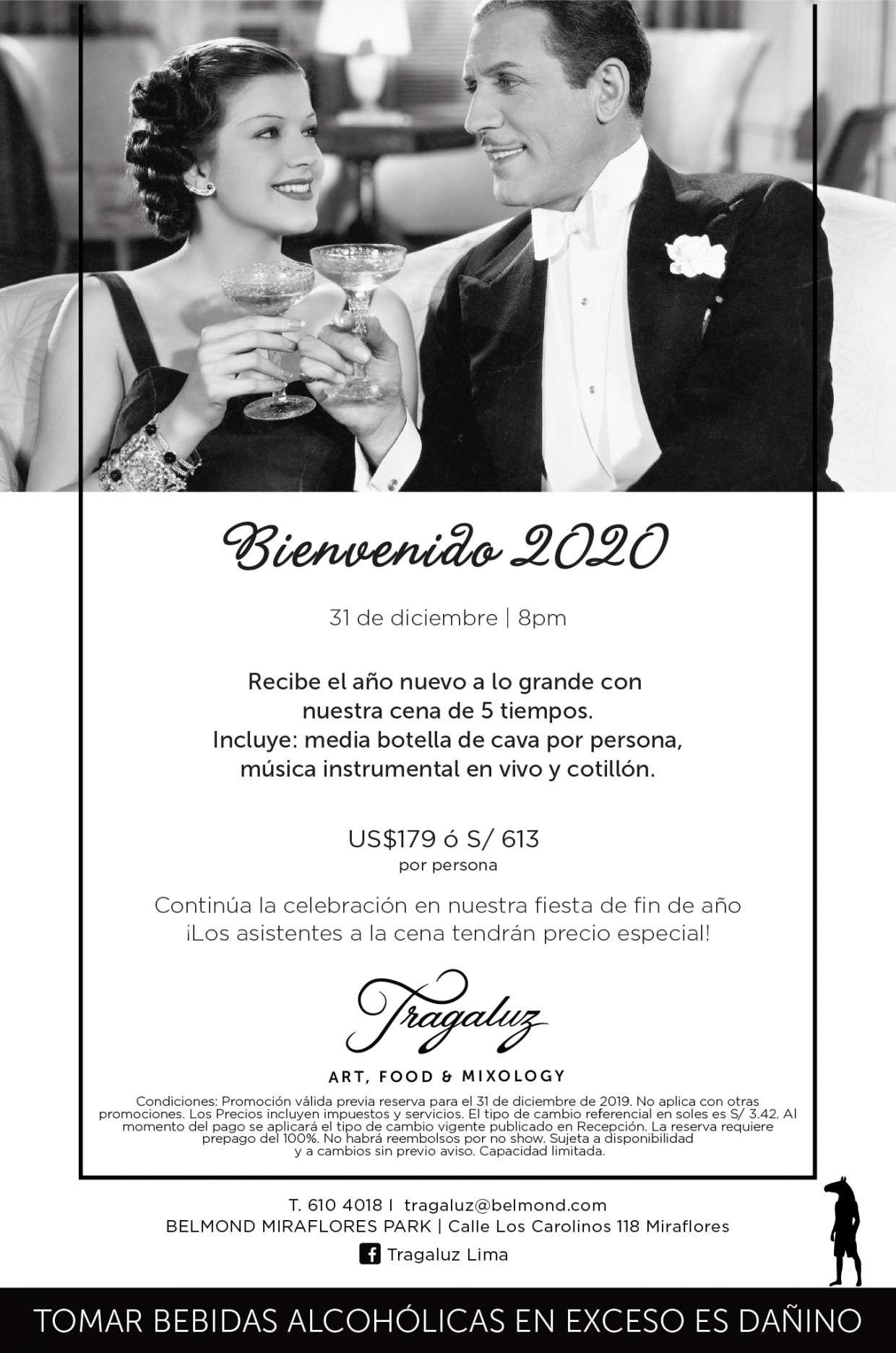 Recibe el 2020 en Tragaluz