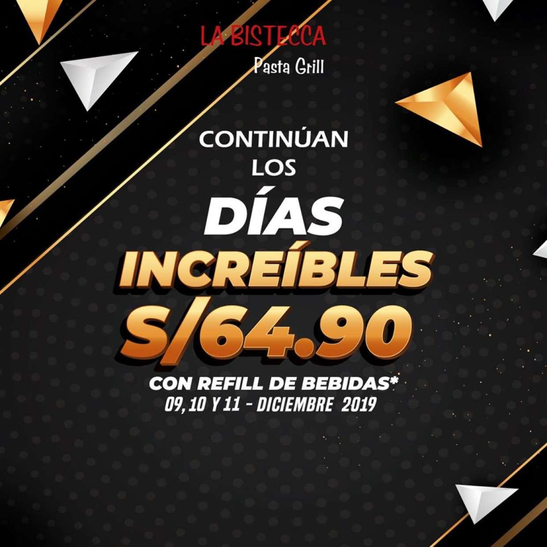 REGRESAN LOS DÍAS INCREÍBLES BISTECCA 2019!