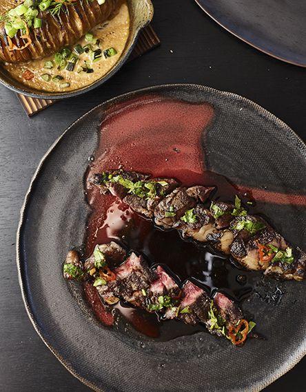 Dondoh robata grill restaurante comida carnes y for Mesa japonesa tradicional